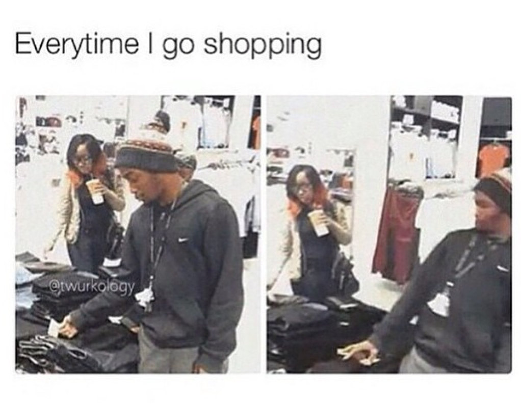 Loves shopping .. Has no money - meme