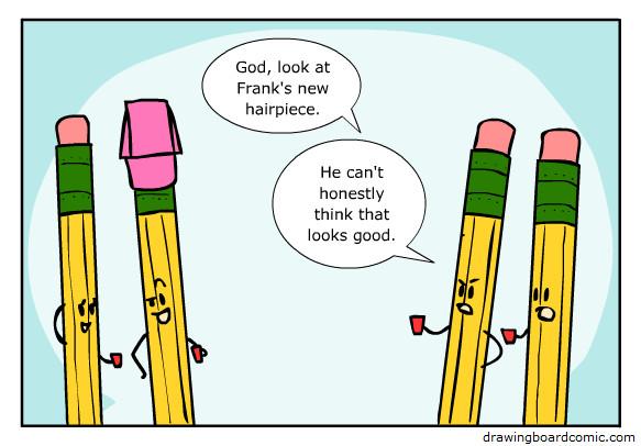 Pencil hairpieces - meme
