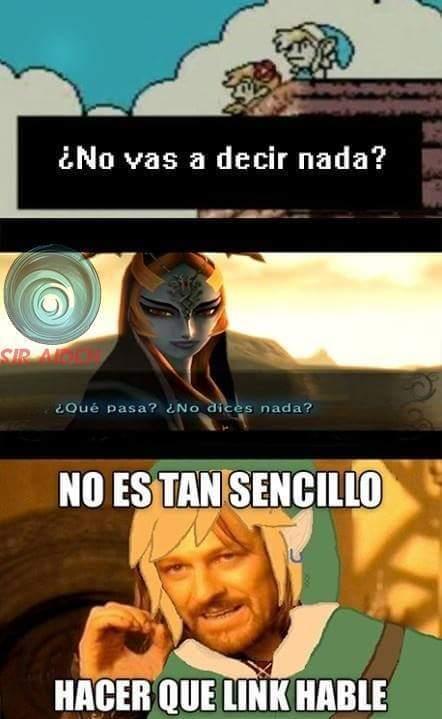 Link nunca habla - meme