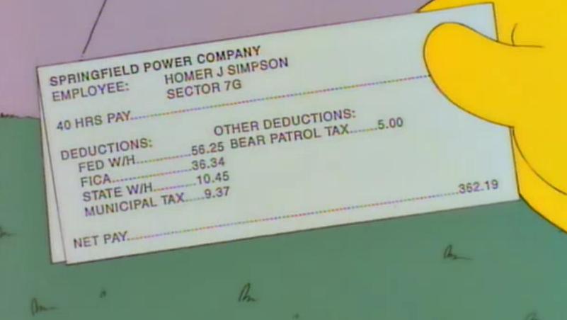La paye de Homer - meme