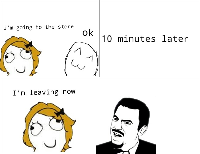 When parents take forever to leave - meme