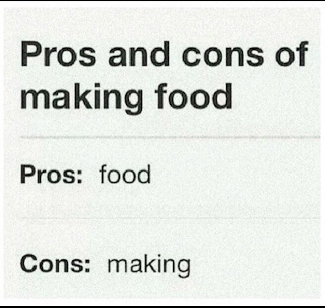 Pros and cons - meme