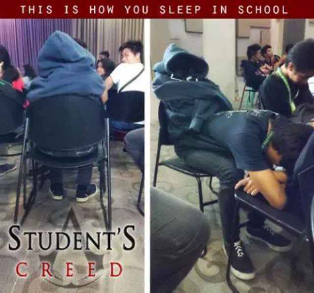 Student's creed - meme