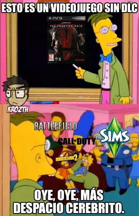 Sin DLC y pura calidad - meme