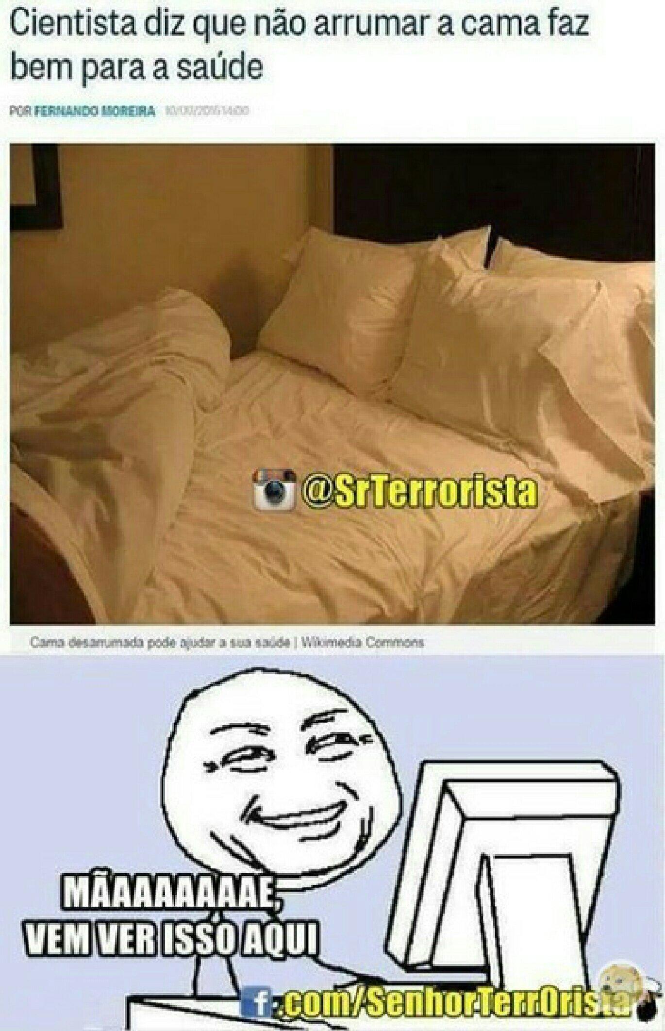 Não vou mais arrumar a cama - meme