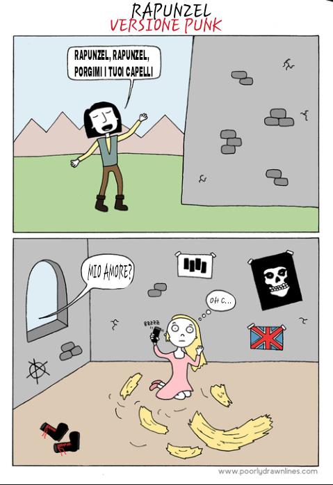 Rapunzel versione Punk - meme