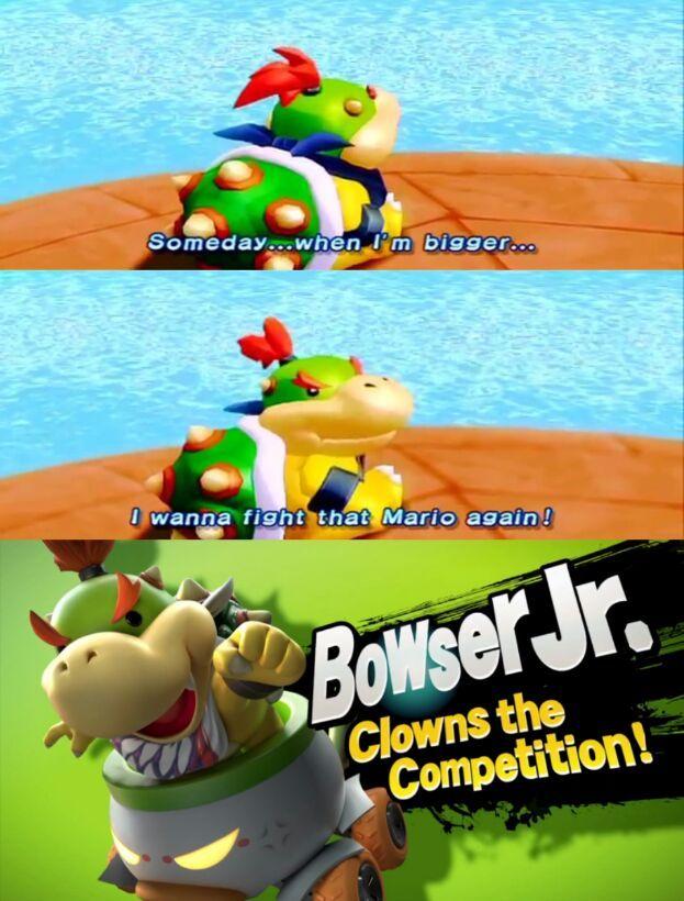 Bowser Jr. got his wish - meme