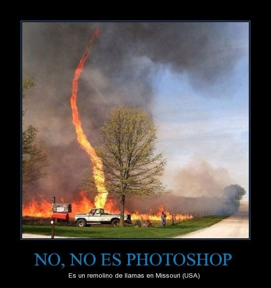 Tornado de fuego - meme