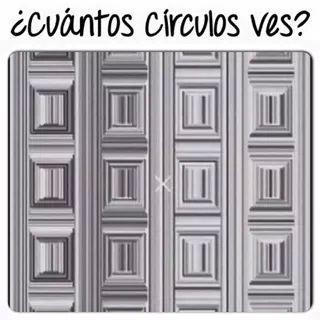 Cuantos círculos ves? - meme