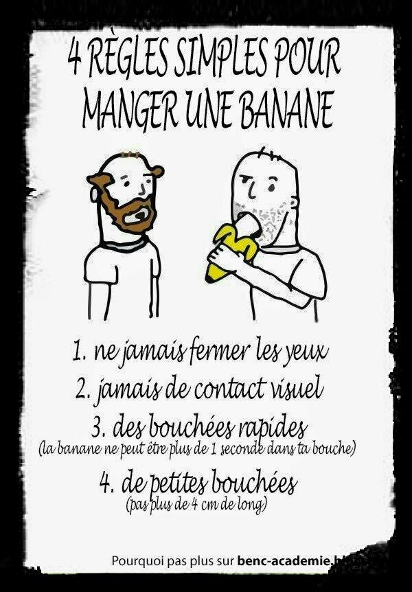 5 réglé pour manger une banane - meme