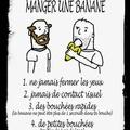 5 réglé pour manger une banane