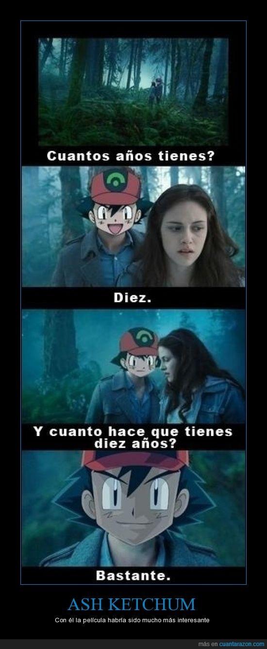 Ese Ash es un loquillo - meme