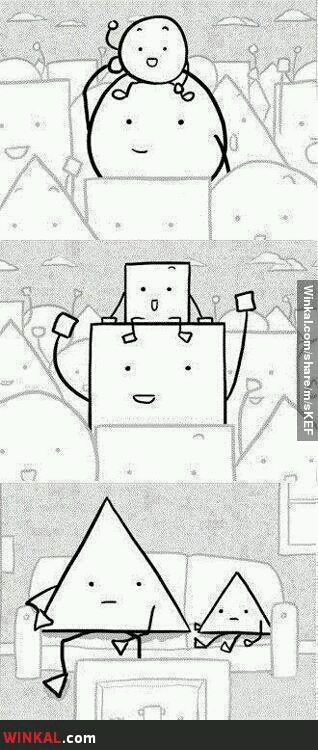 Pobre triangulo - meme