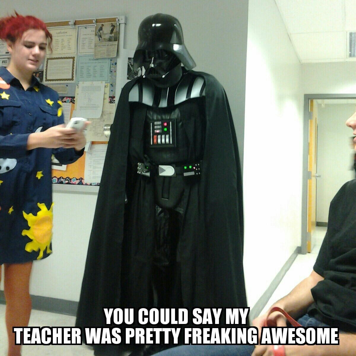 this was my teacher's costume this past Halloween...his star wars game was on point - meme