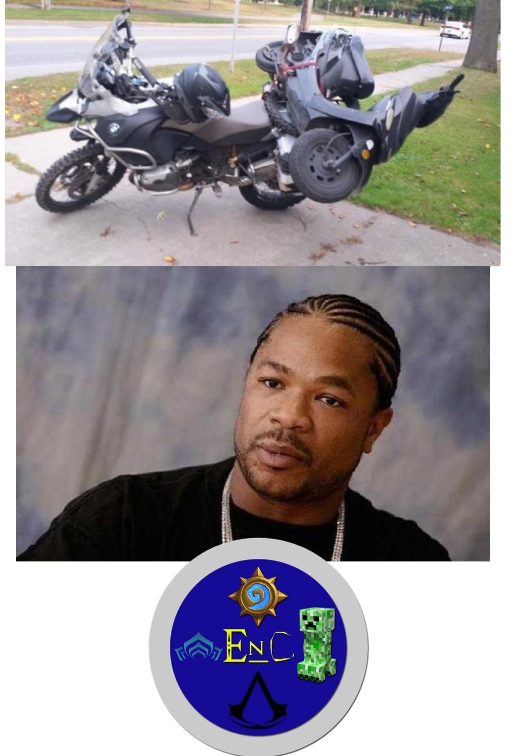 Moto su moto - meme