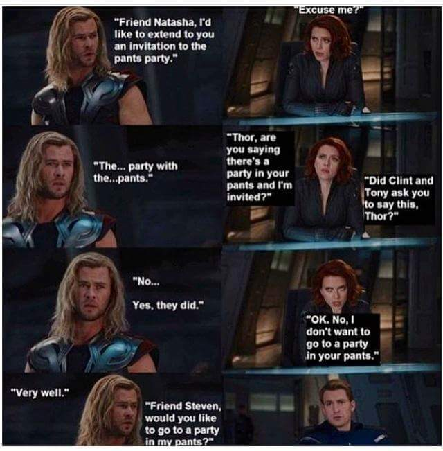 Thor.... the prince of pick up lines - meme