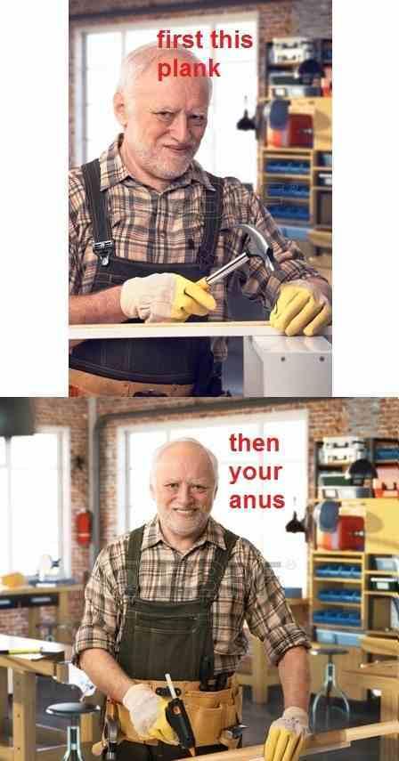 Anus planking - meme
