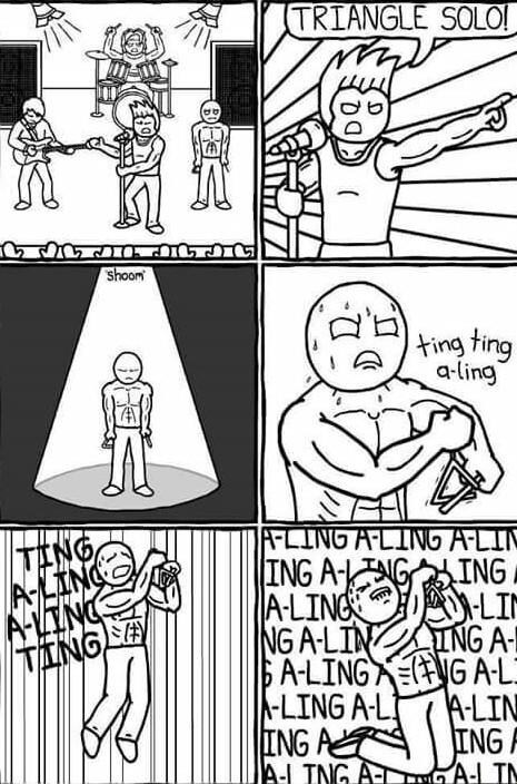 Solo de triángulo :D - meme