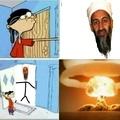 É difficile ritagliare bene la barba di Osama...(cito dpax)