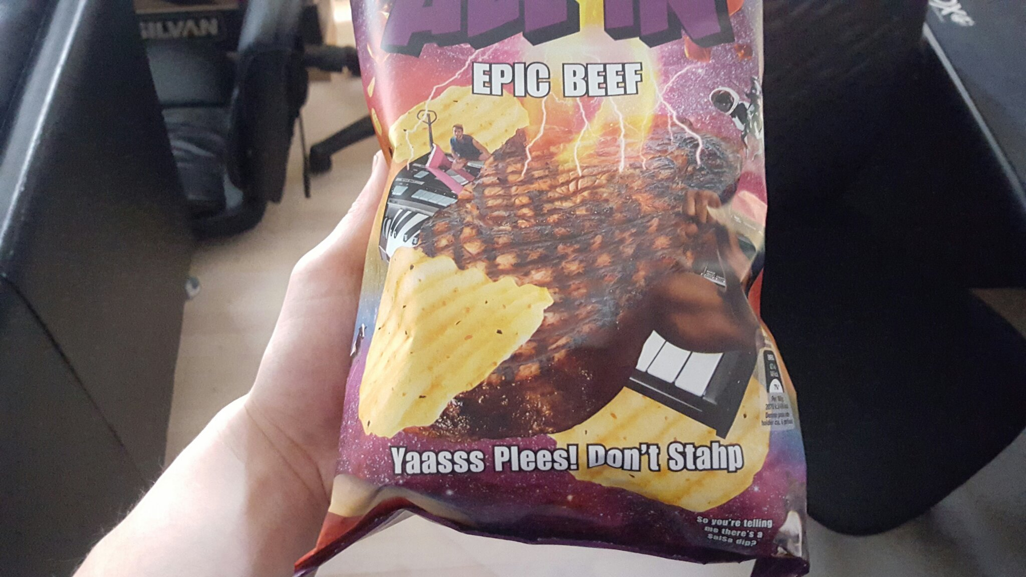 Danish Chips. Must have... But.. Staaaaph.. - meme