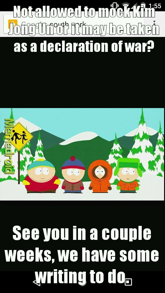 Cant wait to see what South Park does (I know about Team America already) - meme