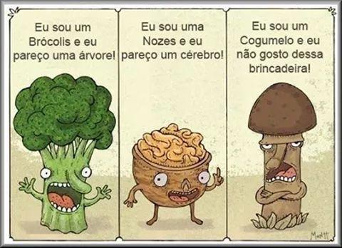E tem gente que fica doidao com cogumelo (aquela carinha) - meme