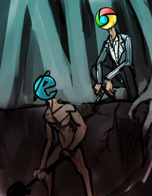 Chrome xD! - meme