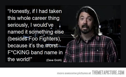 Dave Grohl is my hero - meme