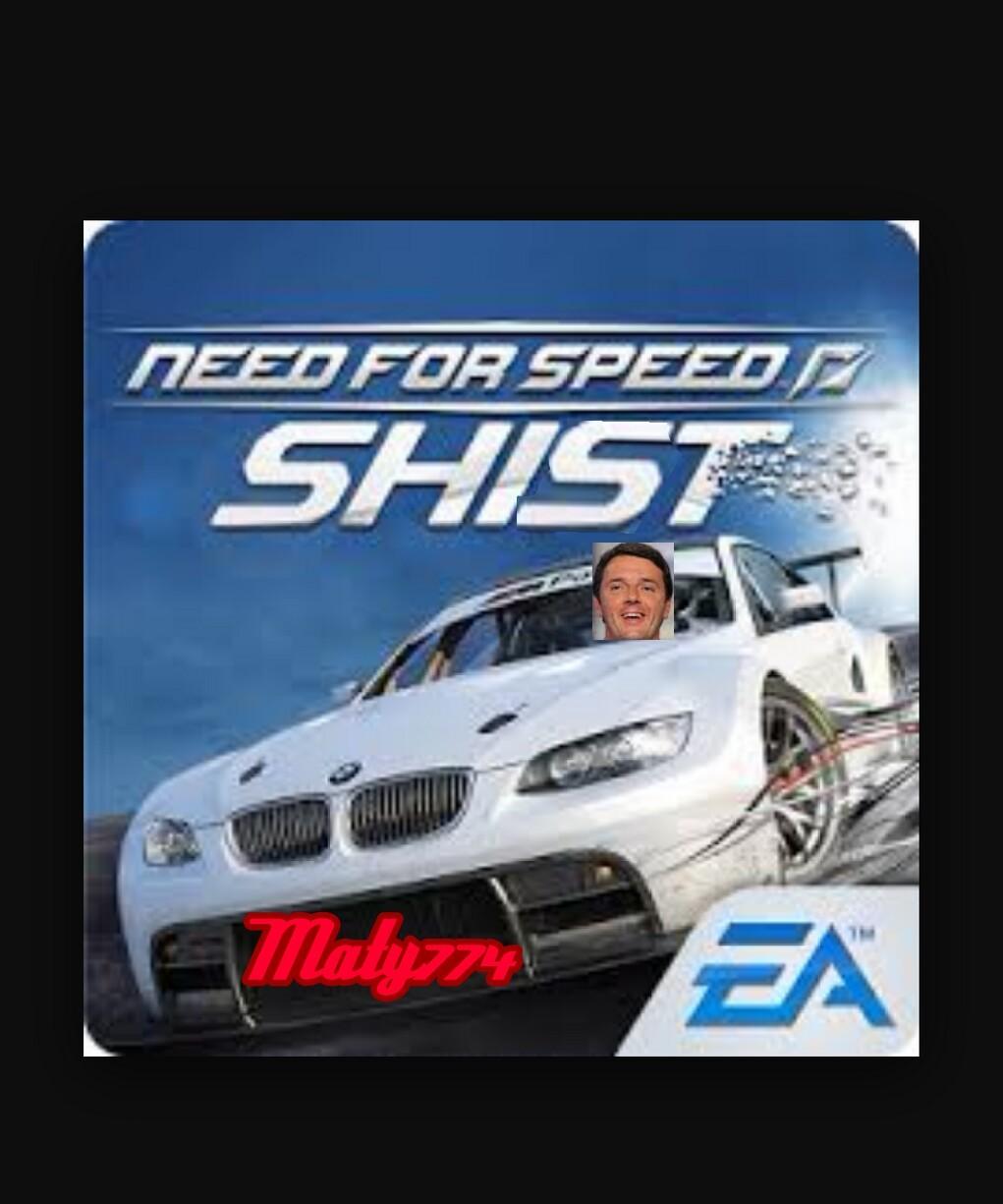 renzi in need for speed - meme