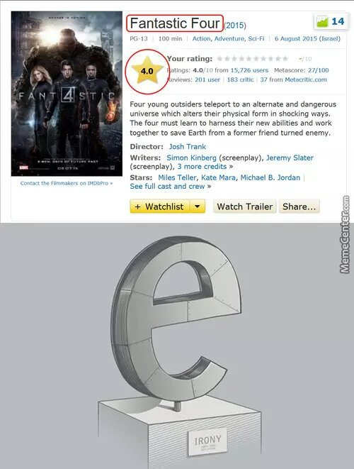 the irony - meme