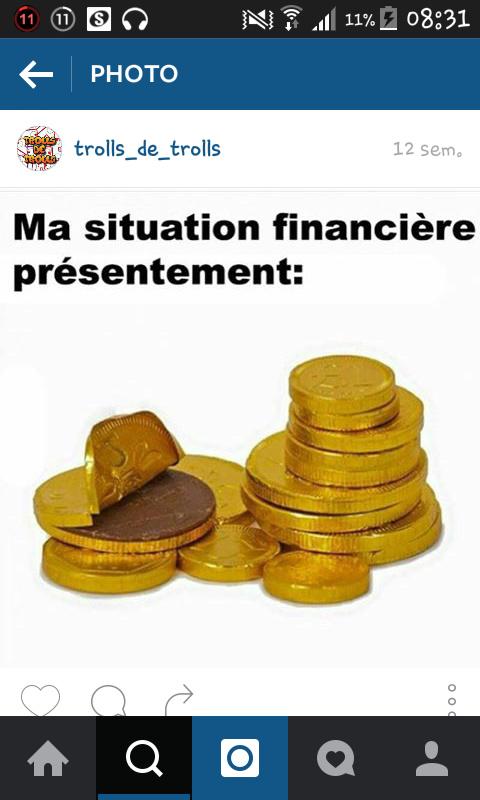 Ma situation financier actuel ! - meme