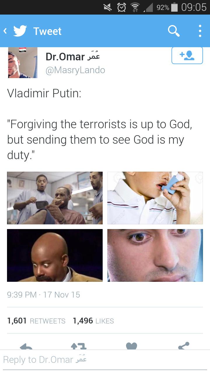IS Putin their place - meme