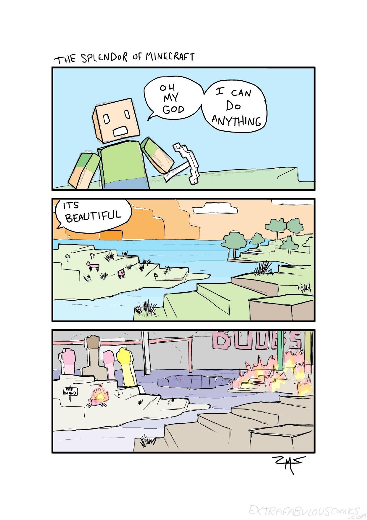 Oh minecraft - meme