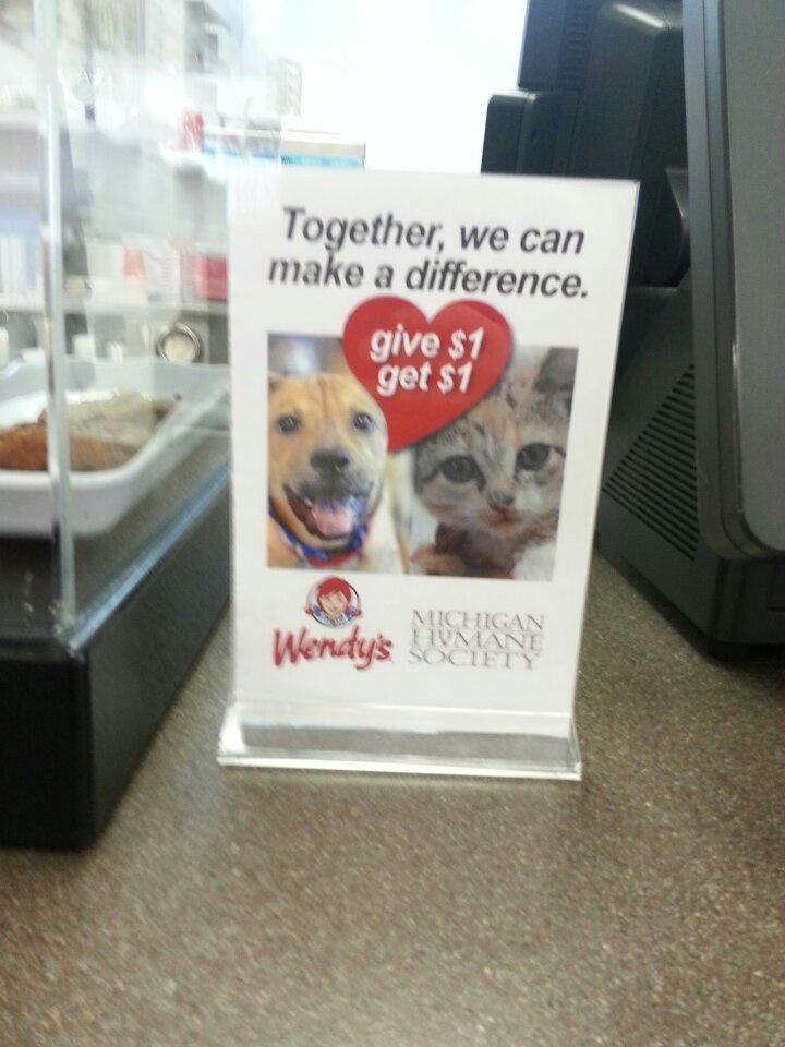 Donate a dollar, get a dollar back. Simple. - meme