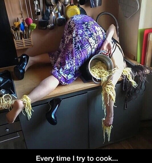 Instructions not found spaghetti everywhere - meme