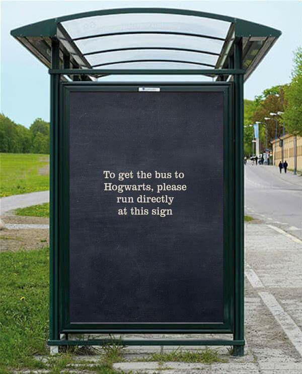 Bus stop 9 3/4 - meme