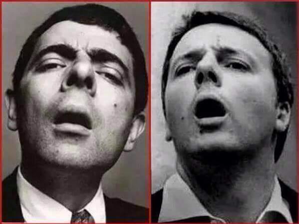 Renzi = Mr Bean - meme