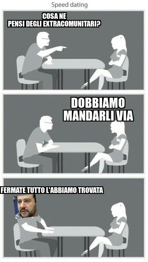 La fidanzata di Salvini - meme