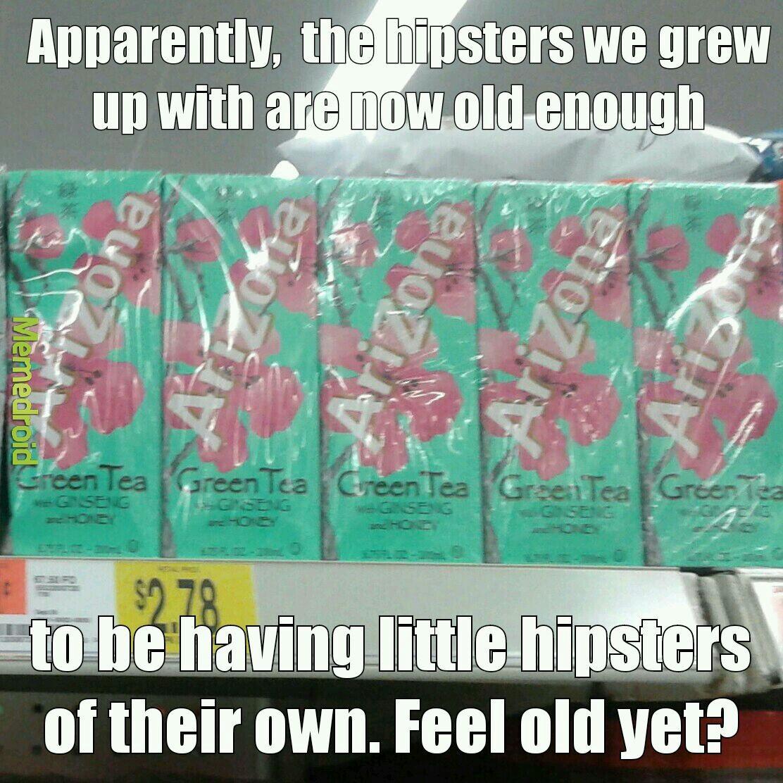 Kid's Arizona Tea boxes, smh - meme