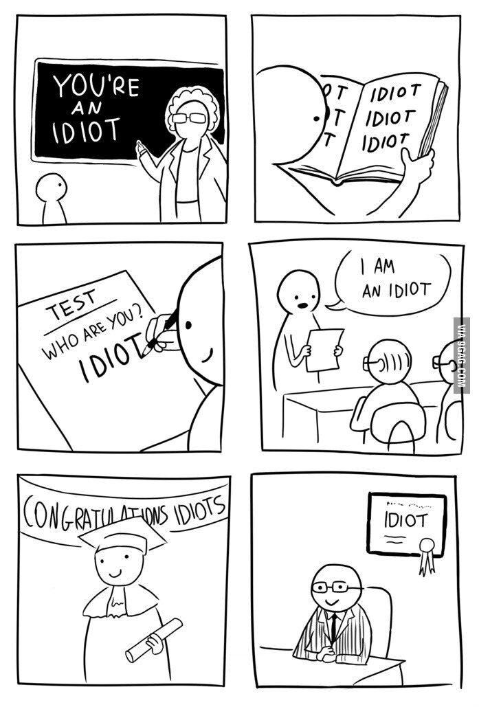 Seu idiota - meme