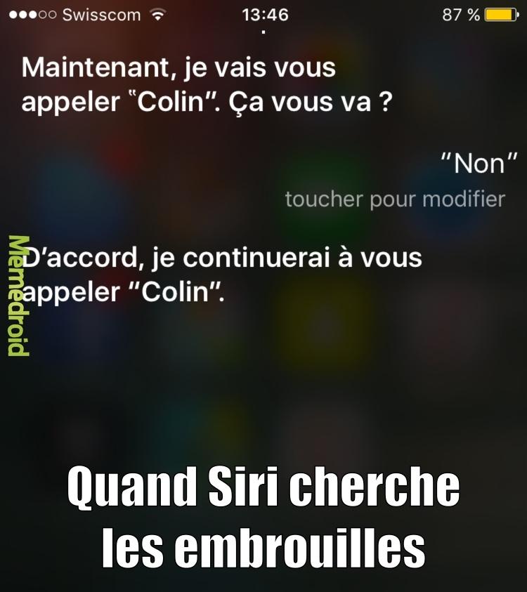 Même Siri respecte rien - meme