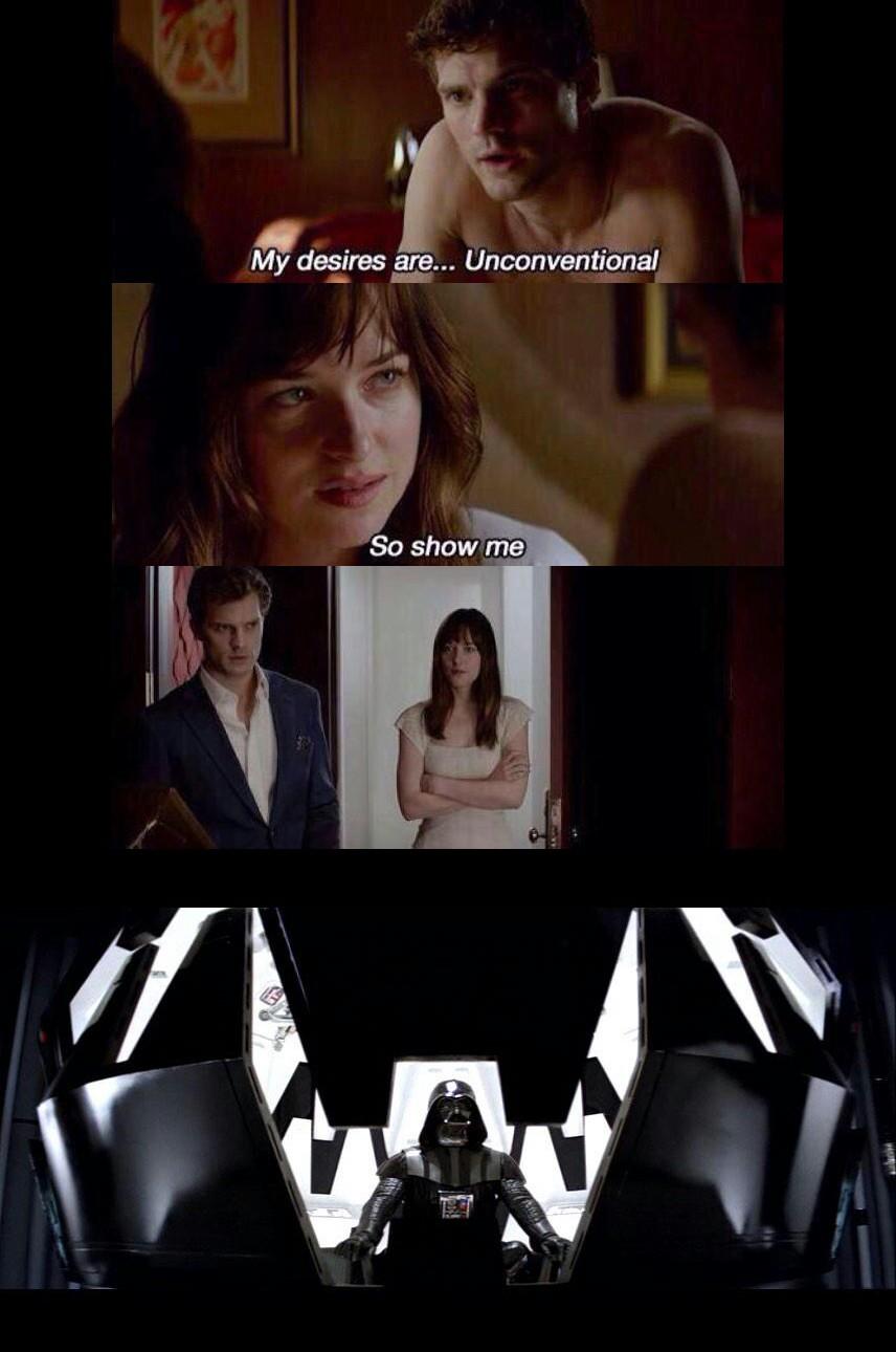 50 shades of Vader - meme