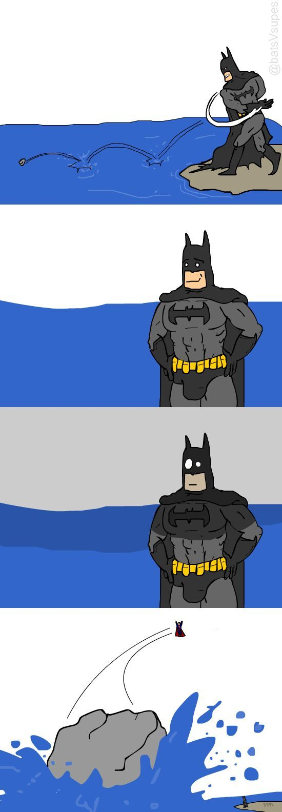 superman and stones - meme