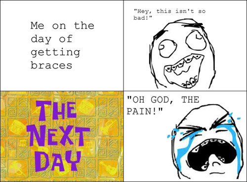 Delayed pain - meme