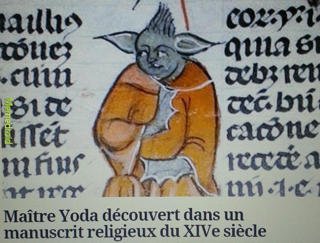 Les origines de maître Yoda...plutôt choquant...O_o - meme