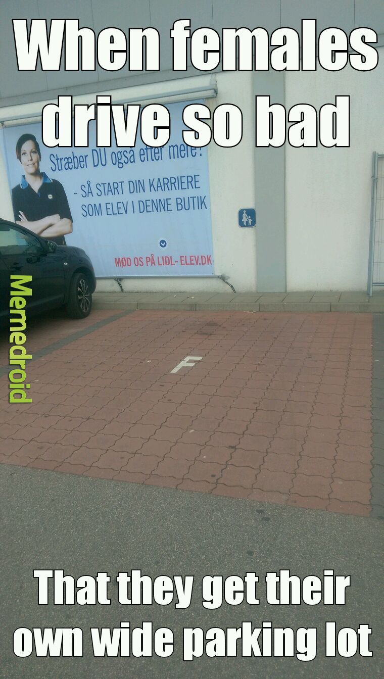 Female drivers right? - meme