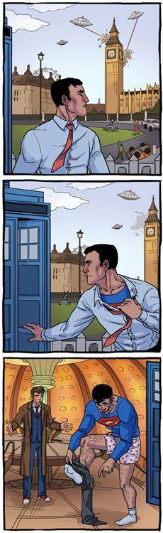 Doctor who superman crossover - meme