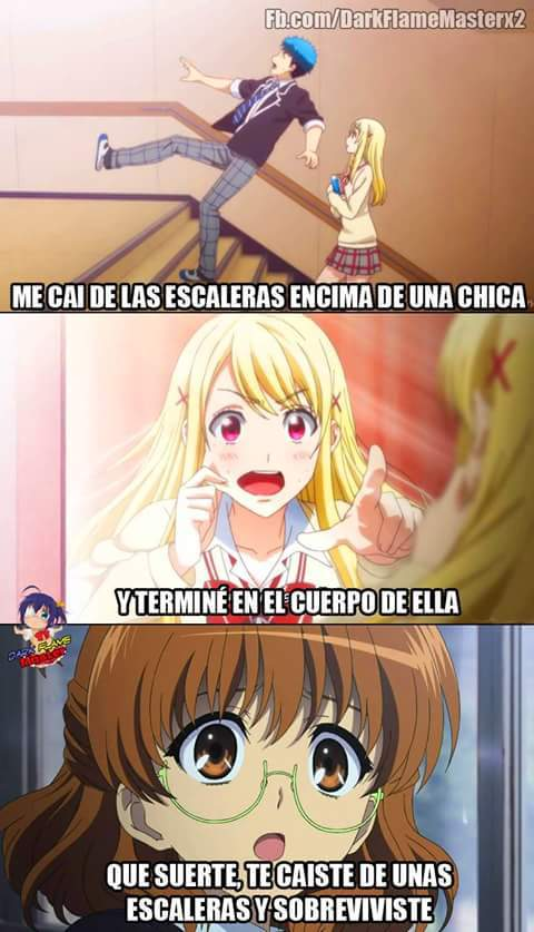 El Titulo se Cayo De Las Escaleras - meme