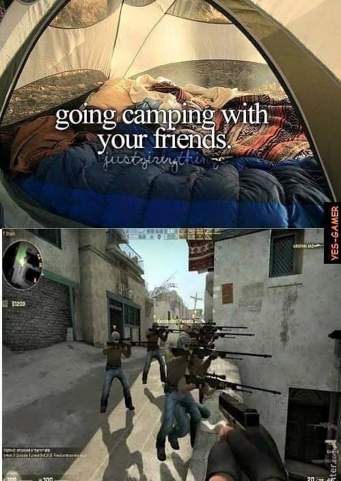 Campeado con tus amigos - meme