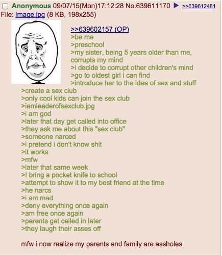 anon starts a sex club - meme